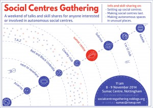 Social Centres Gathering Flyer