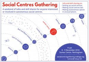 Social Centres Gathering Flyer